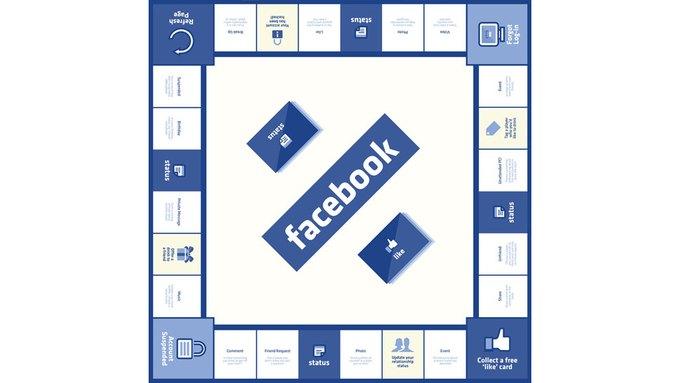 «Фейсбук» представлен в виде настольной игры. Изображение № 1.