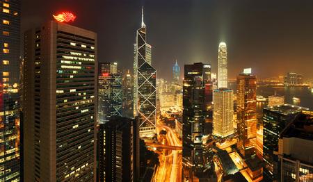 Мегаполисы ночью Гонконг, Дубаи, Нью-Йорк, Шанхай. Изображение № 1.