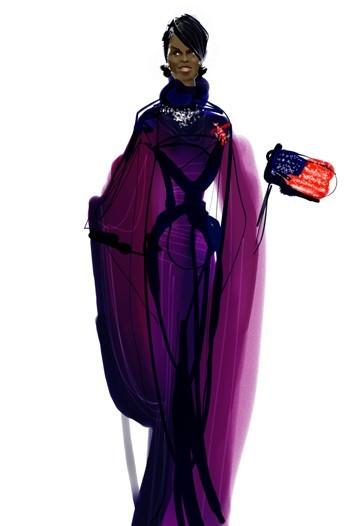 Дизайн одежды дляМишель Обамы. Изображение № 10.