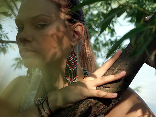 Украшения из бисера в индейском стиле. Изображение № 1.