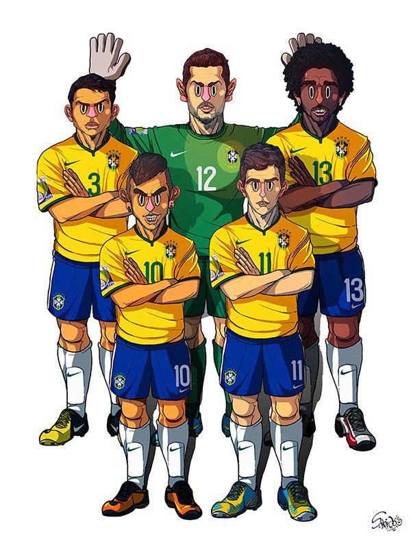 Иллюстратор нарисовал все 32 команды ЧM по футболу . Изображение № 8.
