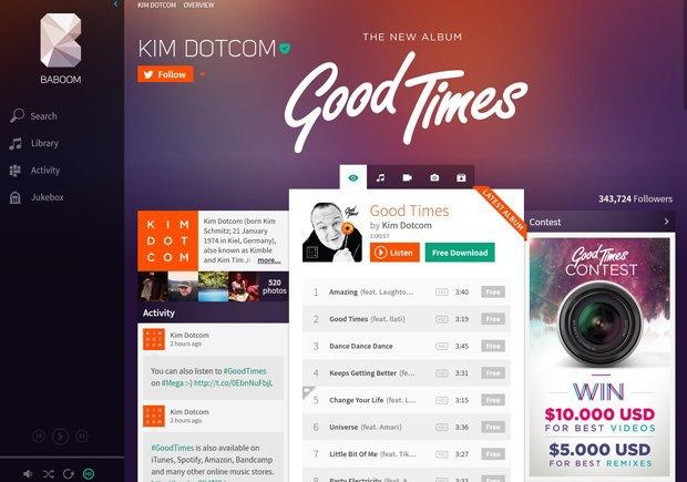 Ким Дотком представил музыкальный сервис и сольный альбом. Изображение № 2.