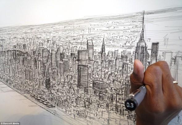 Стивен Вилтшер. Художник рисующий панорамы городов по памяти. Изображение №3.