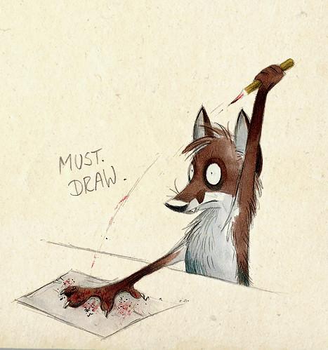 Забавные иллюстрации из жизни лисиц от Skia. Изображение № 12.
