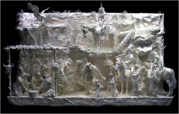 Бумажные скульптуры. Изображение № 21.