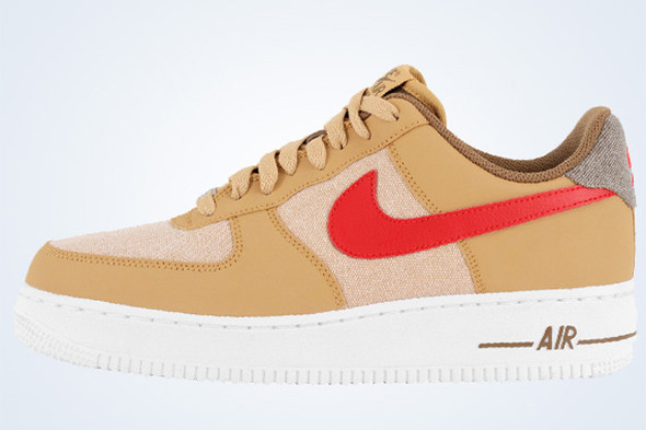 NIKE AIR FORCE 1 (GOLD DENIM). Изображение № 3.