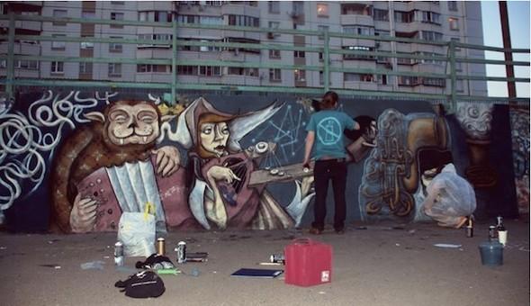 Стас Каневский: граффити во плоти. Изображение № 4.