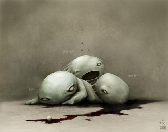 Gloom, молодой российский художник-иллюстратор. Изображение № 4.