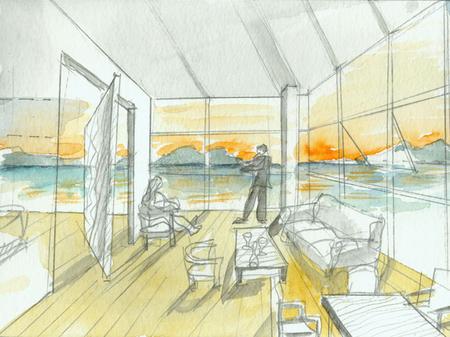 Архитектурные акварели стивена холла. Изображение № 2.