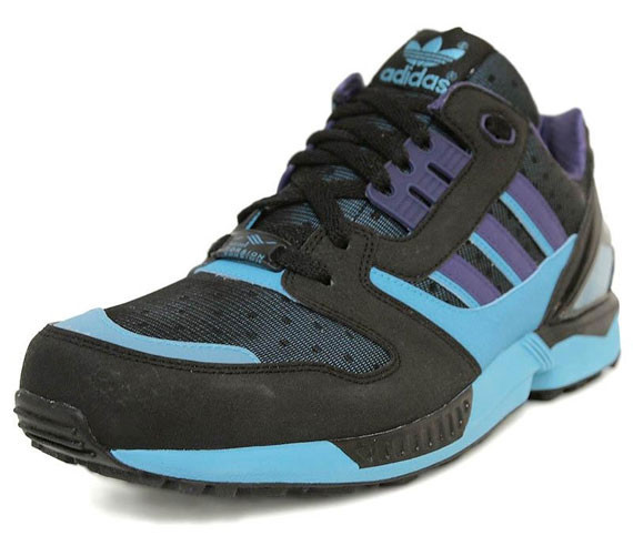Adidas Originals ZX 8000 – Black – Super Cyan. Изображение № 3.