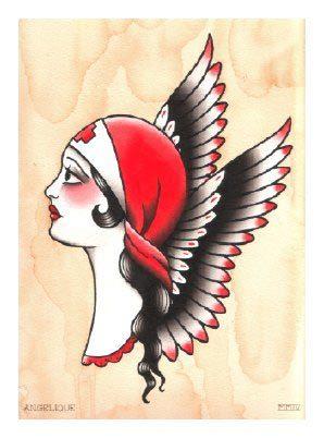 Иллюстрации тату-художницы Анжелики Ауткемп дляобуви. Изображение № 15.