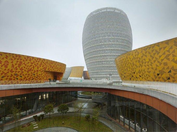 Архитектура дня: музей керамики со зданиями в форме чаш в Китае. Изображение № 6.