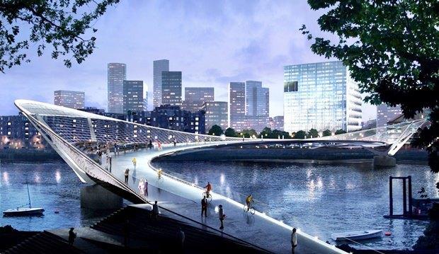 Выложены 74 проекта нового моста через Темзу. Изображение № 65.