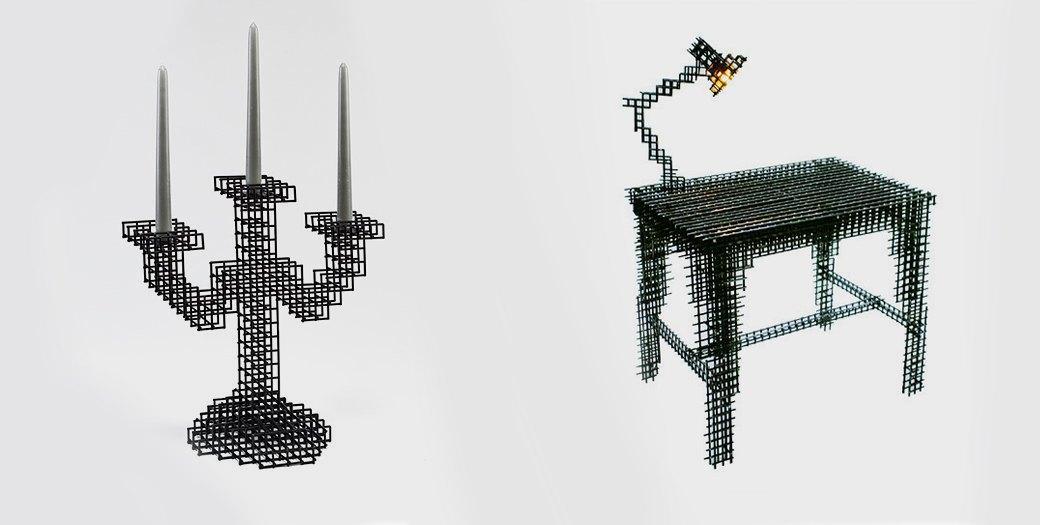 Глитч-мебель: красивые компьютерные ошибки в интерьере. Изображение № 26.