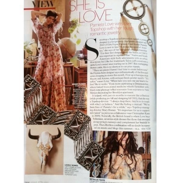 Статья о коллекции Памелы Лав для Topshop в американской Vogue. Изображение № 1.