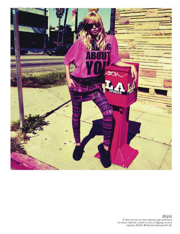Съёмка: Аризона Мьюз, Лара Стоун, Наташа Поли и другие модели во французском Vogue. Изображение № 23.