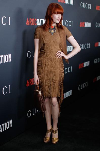 Флоренс Уэлш в платье из весенне-летней коллекции Gucci. Изображение № 1.