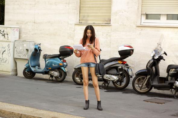 Milan Fashion Week: Модели после показов. Изображение № 20.