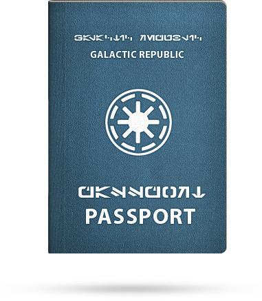 Изображение 2. Первый в мире паспорт Галактической Республики.. Изображение № 2.