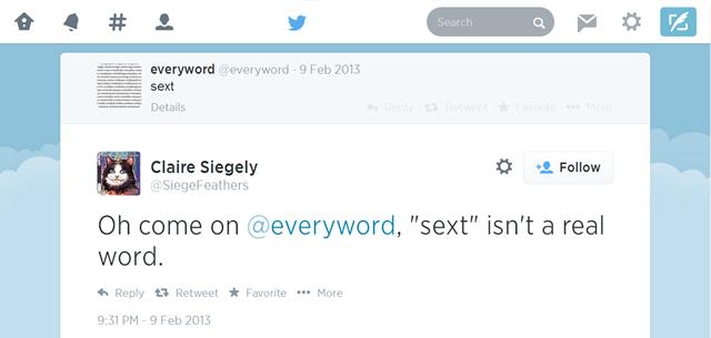 Твит-бот «переписал» английский словарь за семь лет . Изображение № 1.