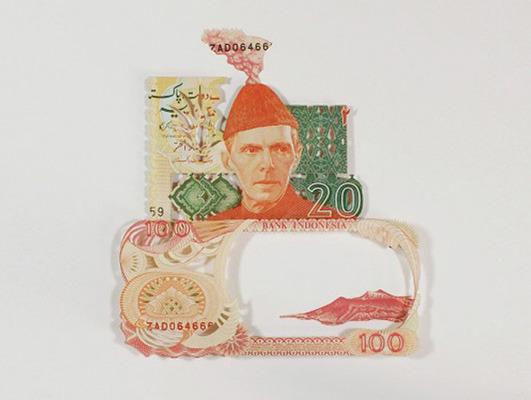 Картины и коллажи из денег Родриго Торреса. Изображение № 13.
