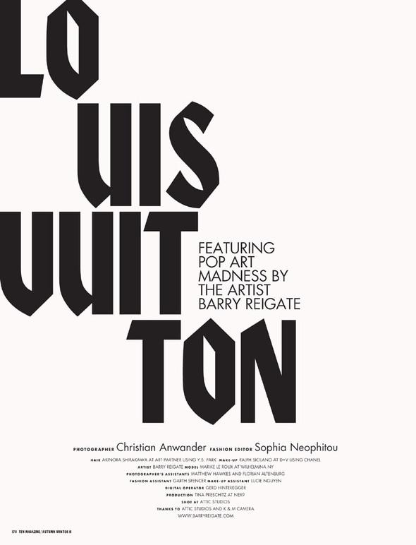 Съёмка: Марике Ле Ру в Louis Vuitton для 10. Изображение № 1.