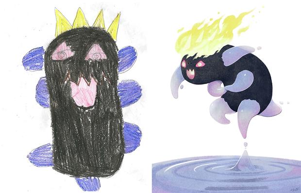 Художники создали монстров наоснове детских рисунков. Изображение № 40.