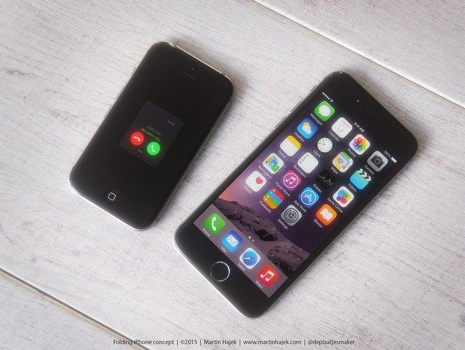 Дизайнер создал концепт раскладного iPhone 6 . Изображение № 8.