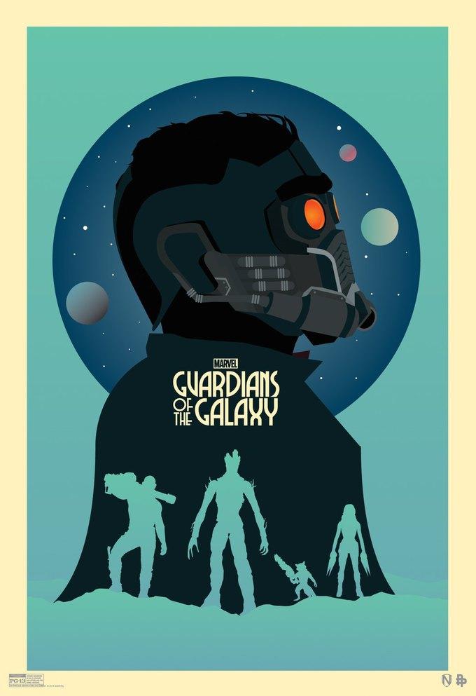Опубликованы 44 фанатских постера к «Стражам Галактики». Изображение № 43.