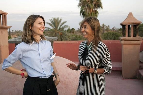 София Коппола и Консуэло Кастильони на съемках в Марокко. Изображение № 1.