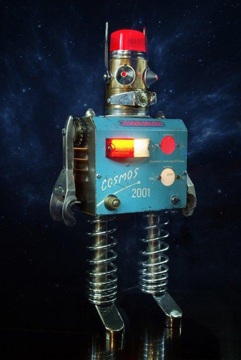 Фото: забавные роботы из промышленного мусора . Изображение № 13.