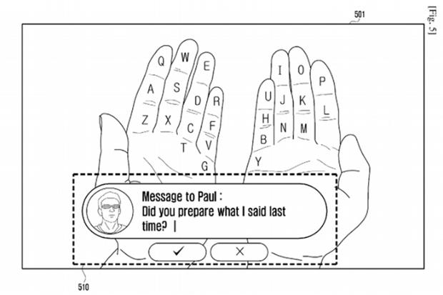 Samsung перенесёт клавиатуру на пальцы пользователя. Изображение № 1.