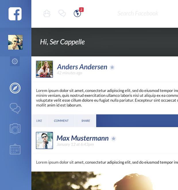 Редизайн дня: полностью новая веб-версия Facebook. Изображение № 2.
