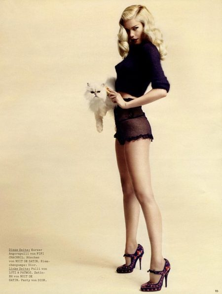 Claudia Schiffer for Vogue Germany, June 2008. Изображение № 1.