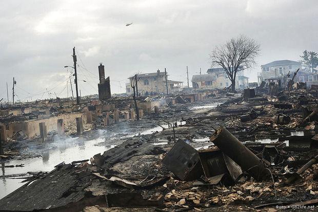 Предупреждение природы. Руины и хаос от урагана Сэнди в США. Изображение № 1.