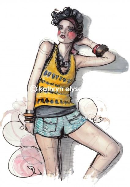 Kathryn Elyse. Fashion Illustrations. Изображение № 22.