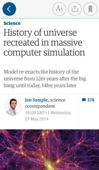 Мобильное приложение The Guardian получило глобальный редизайн. Изображение № 4.