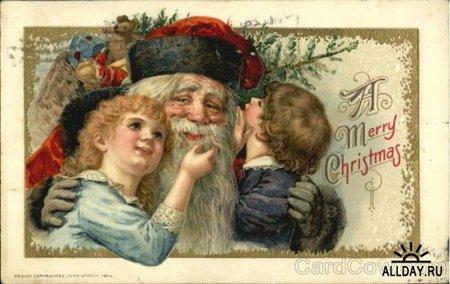 Новогодняя ирождественская открытка. Изображение № 1.