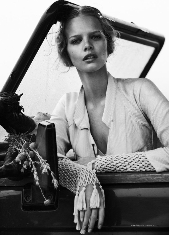 Marloes Horst by Will Davidson for Harpers Bazaar Australia March2012. Изображение № 10.