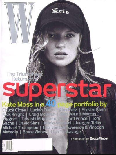 Кейт Мосс, наобложках главных модных журналов планеты. Изображение № 10.