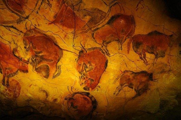 Наскальная живопись в пещере Альтамира, Испания. Изображение № 1.