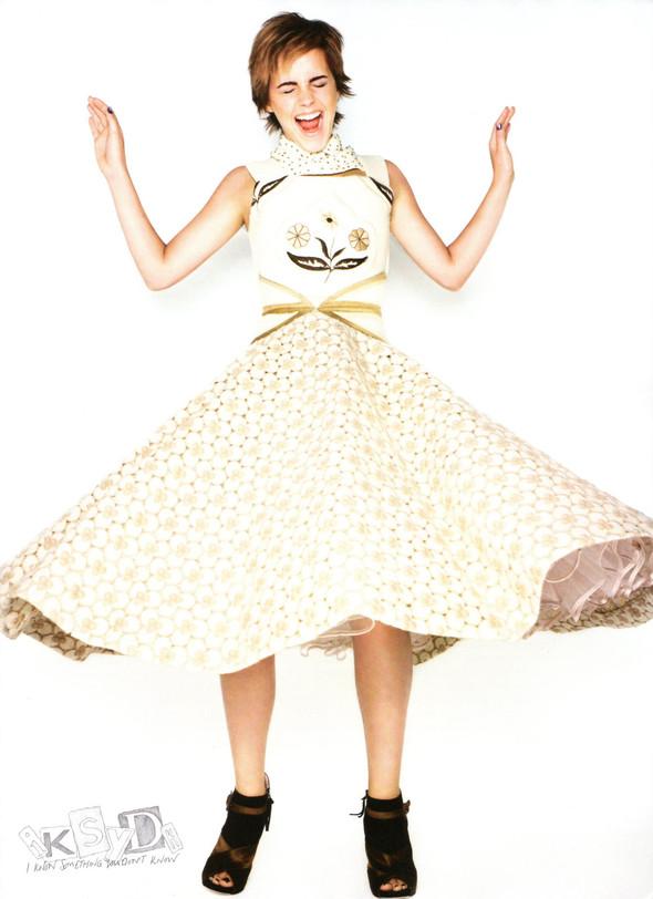 Съёмка: Эмма Уотсон и Ранкин для Elle. Изображение № 7.