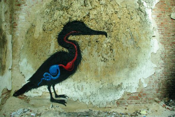 Животный стрит-арт от бельгийского граффитчика ROA. Изображение № 20.