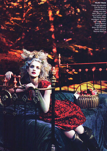 Into the Woods. Natalia Vodyanova. Vogue Sept-09. Изображение № 6.