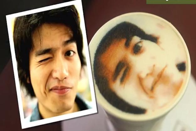 В тайваньском кафе на пенке латте печатают портреты клиентов. Изображение № 4.