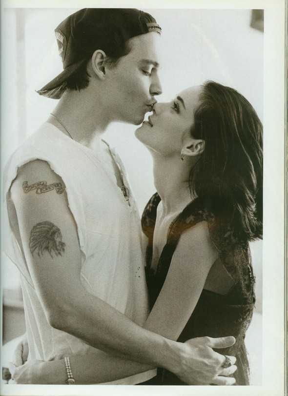 Johnny Depp and Winona Ryder for Vogue UK May'91. Изображение № 2.
