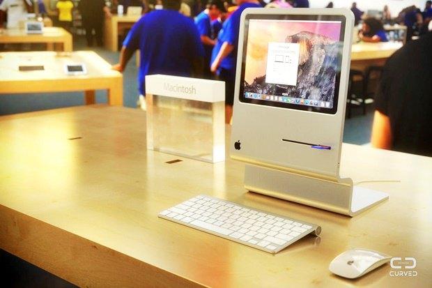 Концепт: современный iMac в стиле Macintosh 128K 1984 года. Изображение № 1.