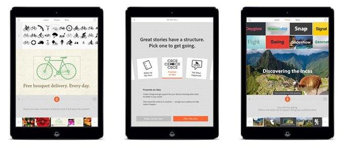 Adobe выпустила бесплатное приложение для создания видеопрезентаций . Изображение № 1.