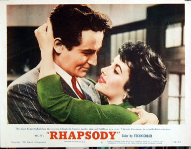 Rhapsody (1954 )Charles Vidor, Elizabeth Taylor, Vittorio Gassman and John Ericson.. Изображение № 13.