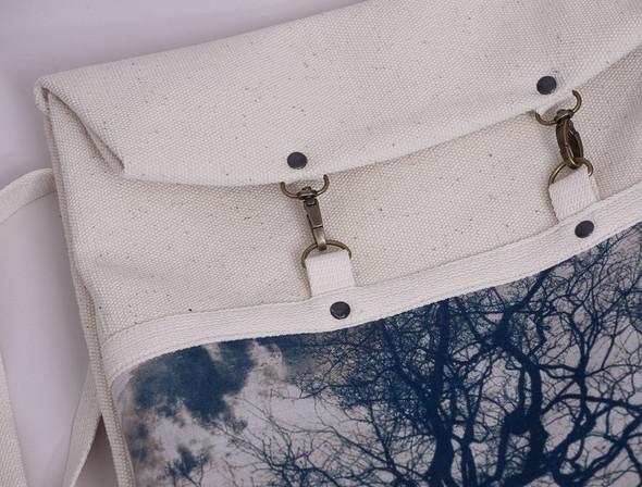 БЕЛОЕ — рюкзаки и сумки из грубого белого хлопка. Изображение № 4.
